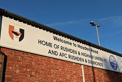 Signage for a football club