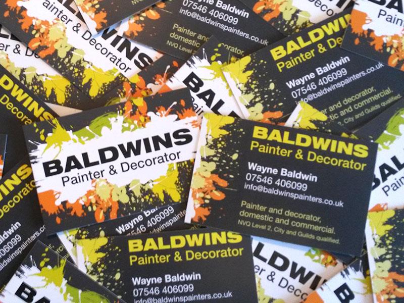 Baldwins Painter & Decorator business cards