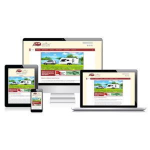 Ashbeck Caravan website layout
