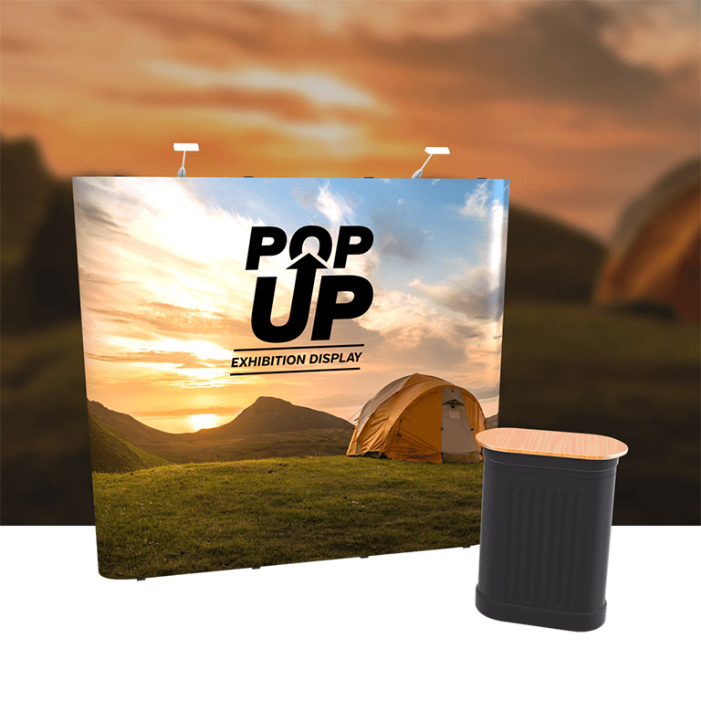 3x3 straight Pop-Up Stand