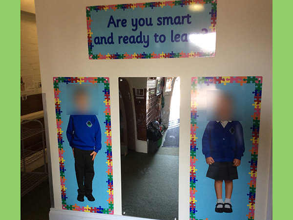 School uniform check signs
