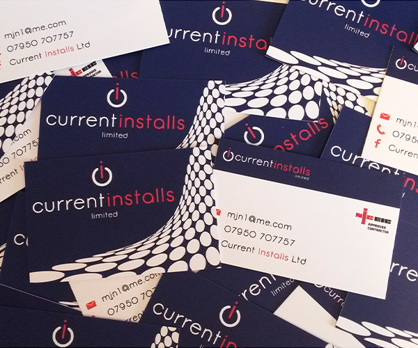 Current Installs Ltd double sided business cards