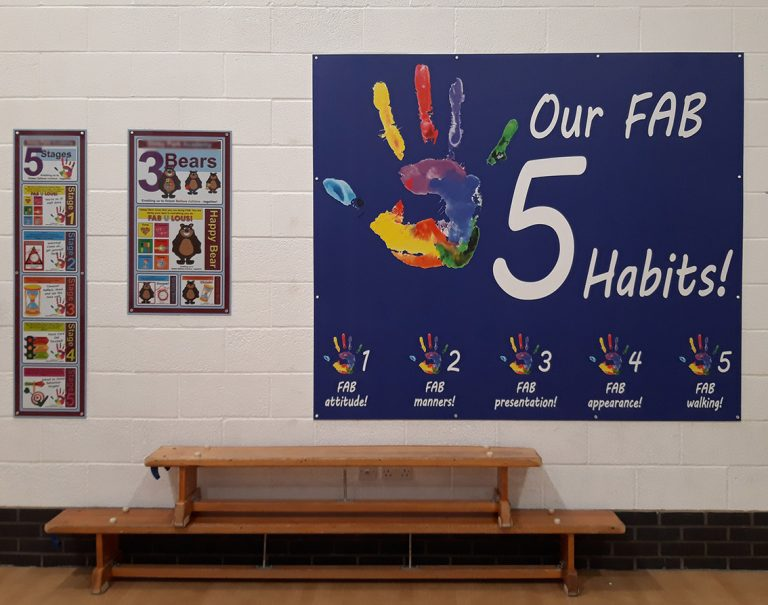 Behaviour and Habit signs in a Primary School