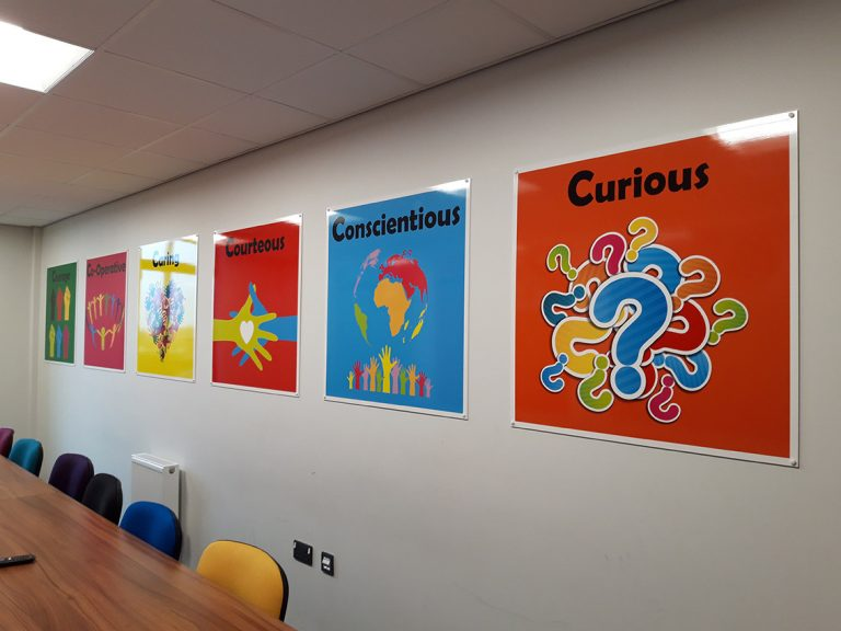 Signs for a Primary School meeting room