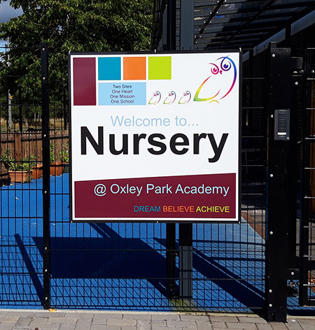 Nursery outdoor sign