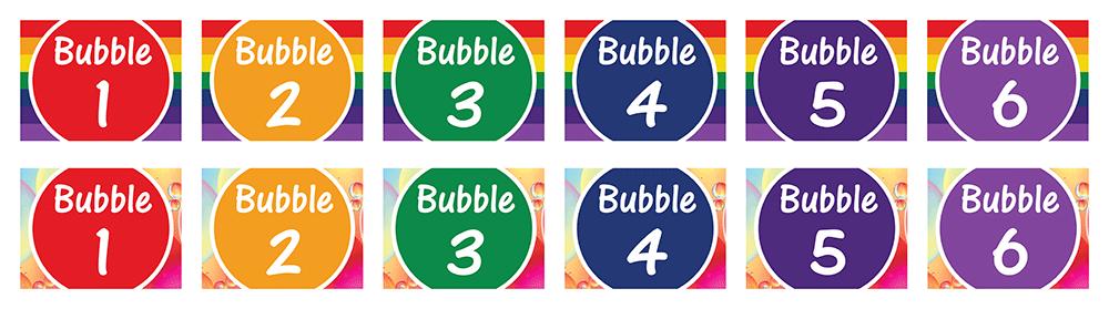 Bubble classroom signage for schools
