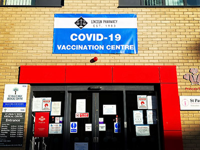 PVC banner for COVID-19 vaccination sites and Pharmacies