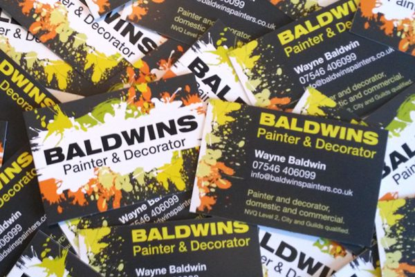 Business cards for painter and decorator