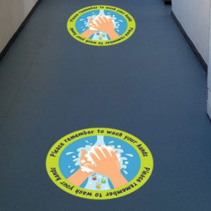 Coronavirus Covid-19 floor stickers for schools