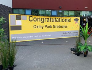 Graduation  PVC banner for a Primary School