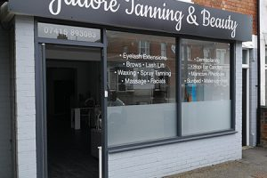 Jadore shop signage, fascia and window vinyls