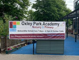 Nursery Primary PVC banner for a Primary School