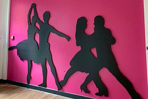 Dance silhouette wall signage