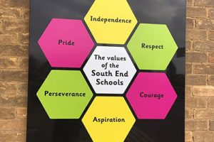 School Values signage for a Junior School