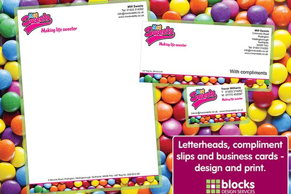 Stationery letterheads and compliment slips